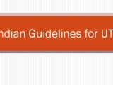 Indian Guidelines for UTI