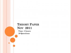 Theory Paper Nov 2011