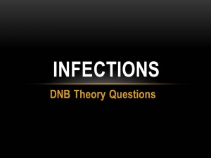 INFECTIONS : DNB THEORY QUESTIONS