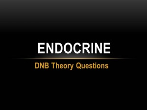 Endocrine - DNB Theory Questions