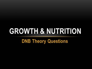 GROWTH & NUTRITION