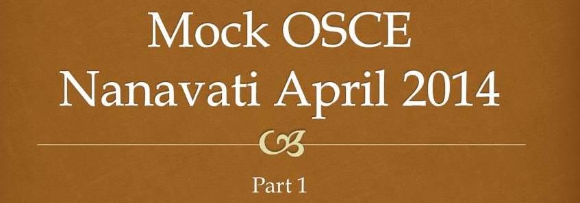 Nanavati OSCE April 2014
