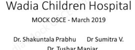Click here to open Wadia Mock OSCEs of MARCH 2019