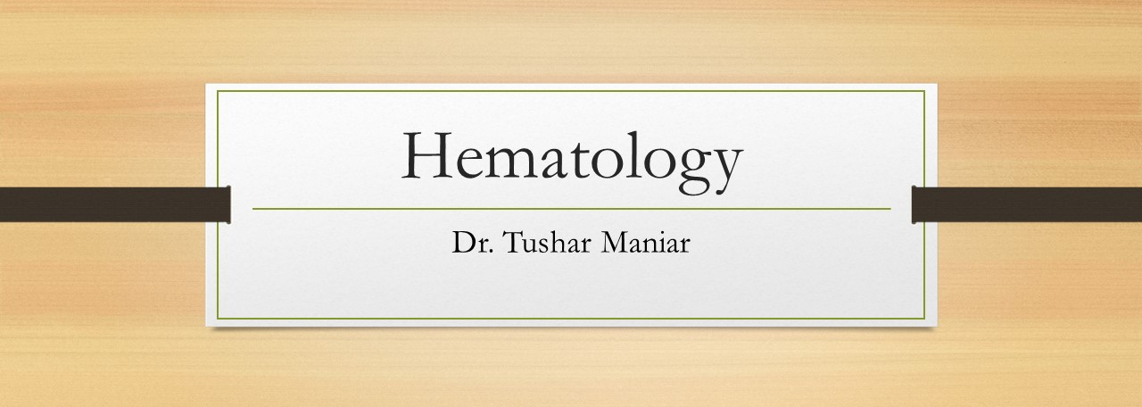 Click here for Hematology OSCEs from PG CMEs of Wadia Hospital, Mumbai From 2011-2019